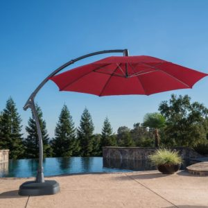 11ft Cantilever Umbrella with Grey Pole Finish