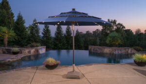 11ft Solar LED Umbrella