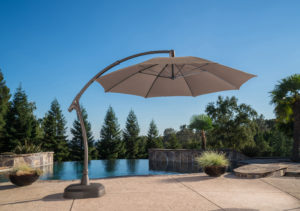 11ft Cantilever Umbrella with Coffee Pole Finish
